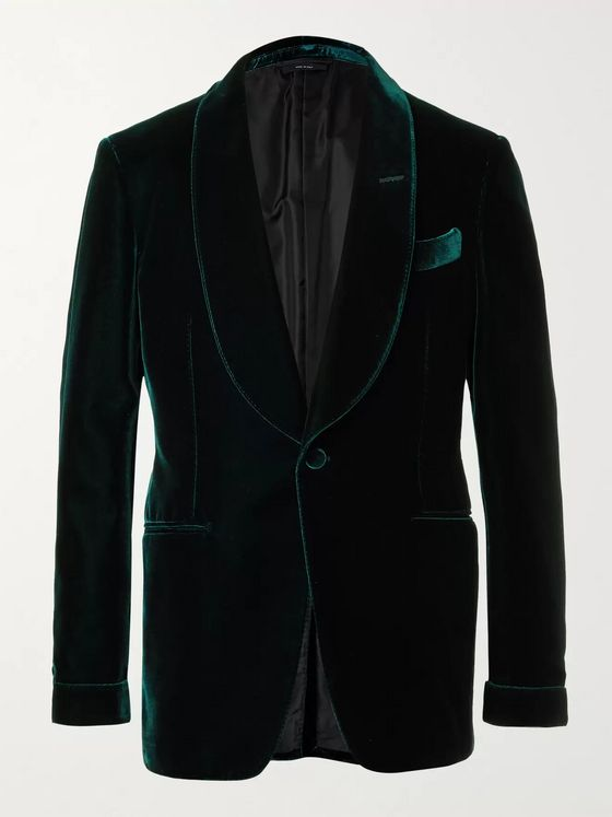 TOM FORD Slim-Fit Shawl-Collar Velvet Tuxedo Jacket