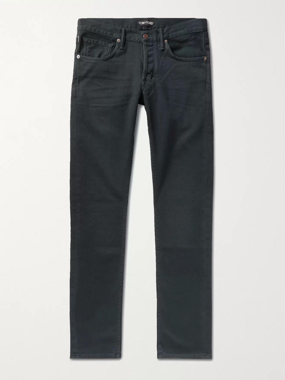 Tom Ford Slim-fit Stretch-denim Jeans In Gray