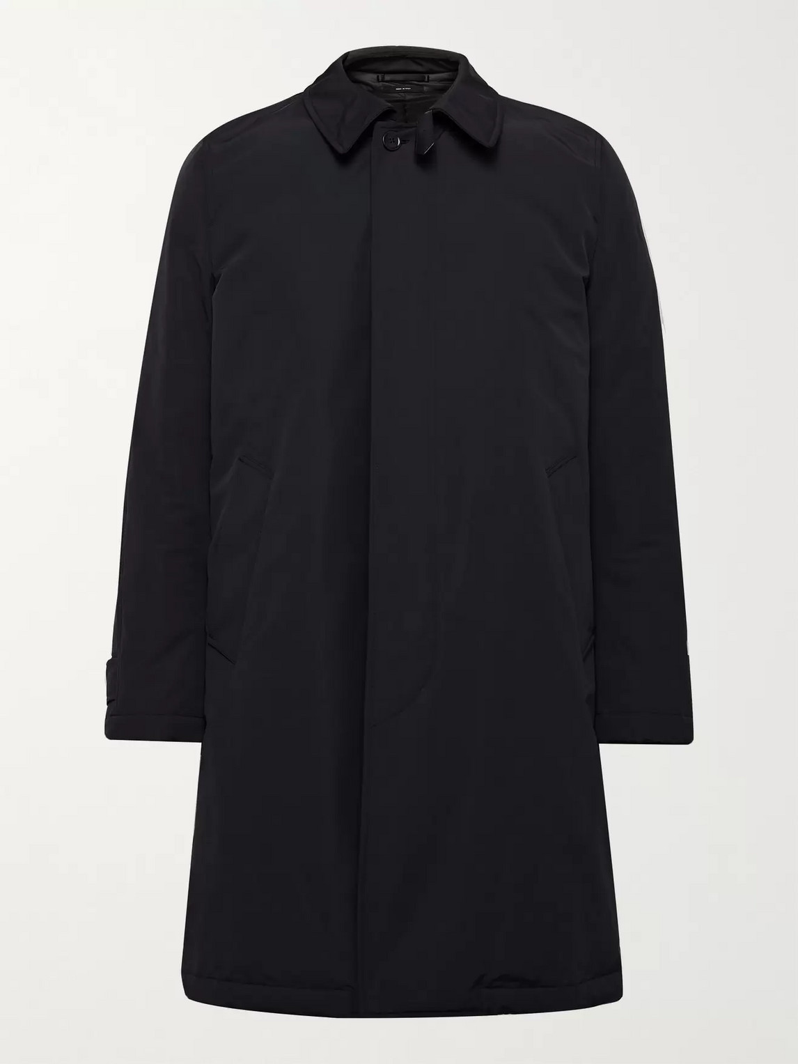 Tom Ford Shell Down Coat In Blue