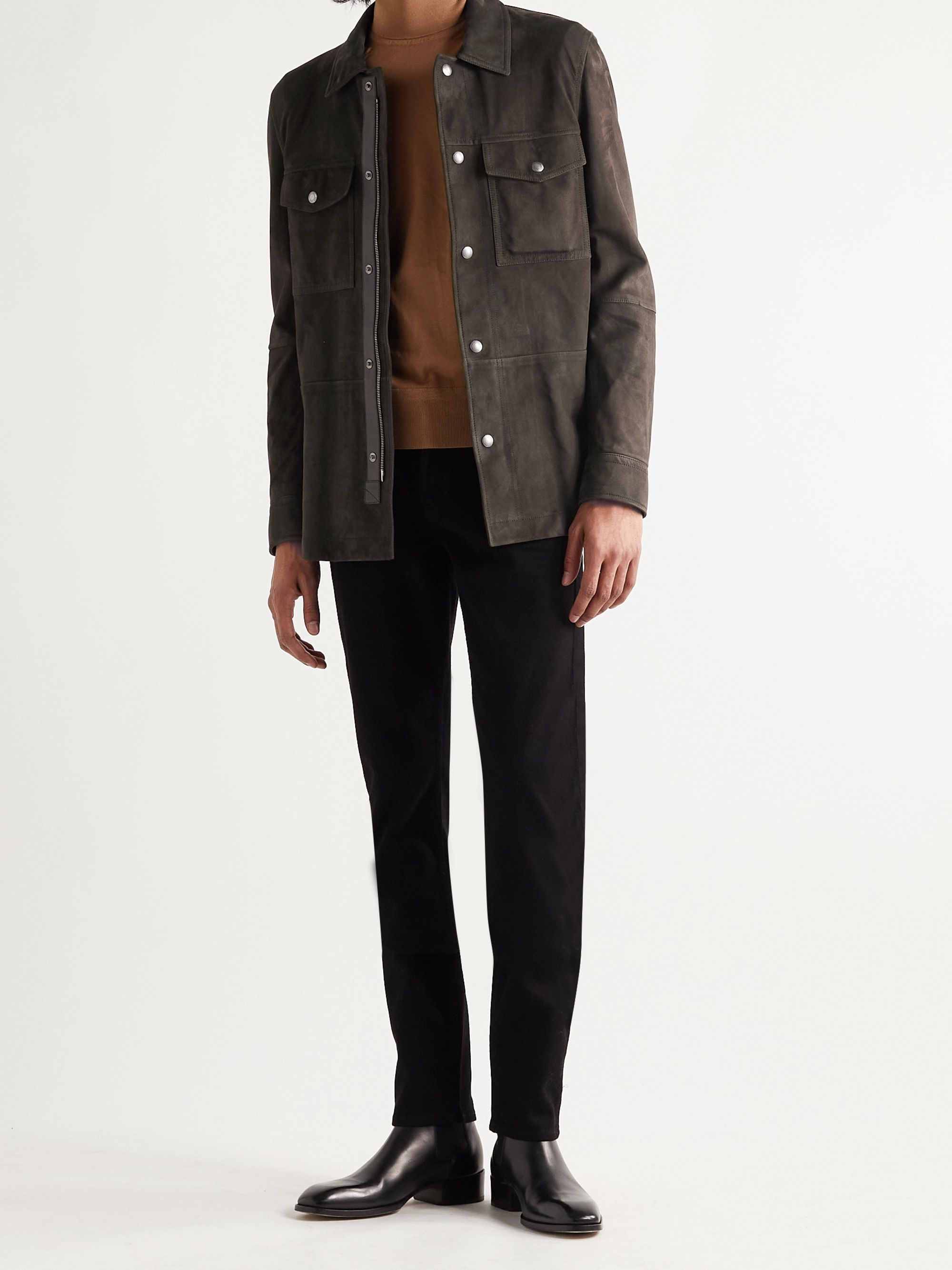 TOM FORD Suede Overshirt