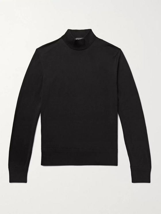TOM FORD Slim-Fit Wool Mock-Neck Sweater