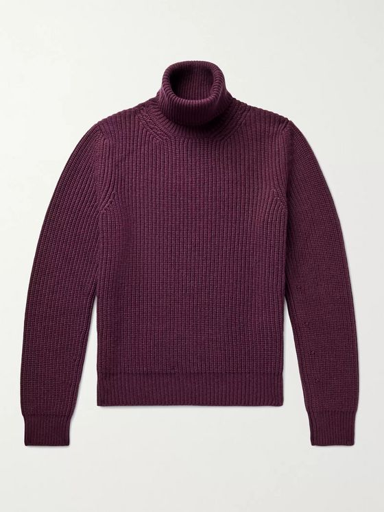 TOM FORD Ribbed Cashmere Rollneck Sweater