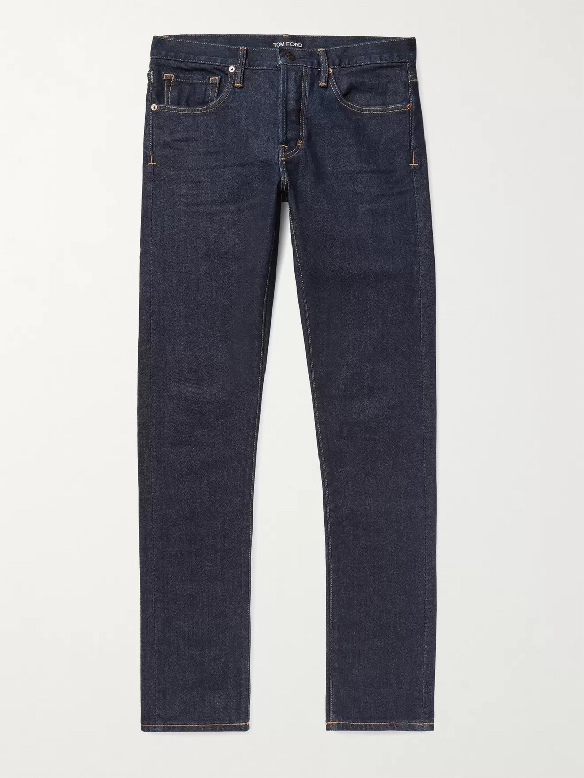 Tom Ford Slim-fit Stretch-denim Jeans In Blue