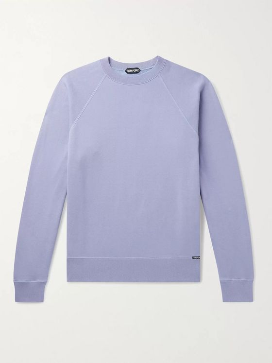 TOM FORD Fleece-Back Cotton-Jersey Sweatshirt
