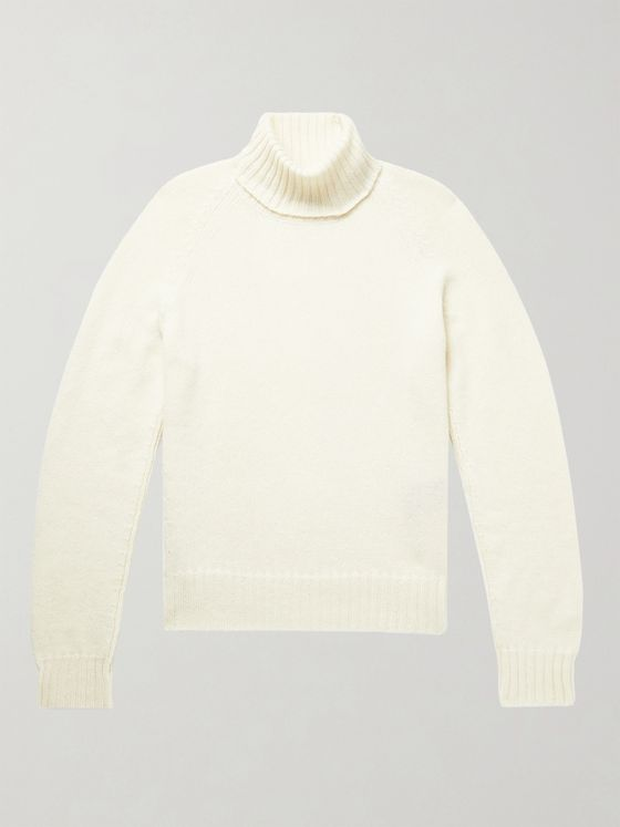 TOM FORD Slim-Fit Cashmere and Mohair-Blend Rollneck Sweater