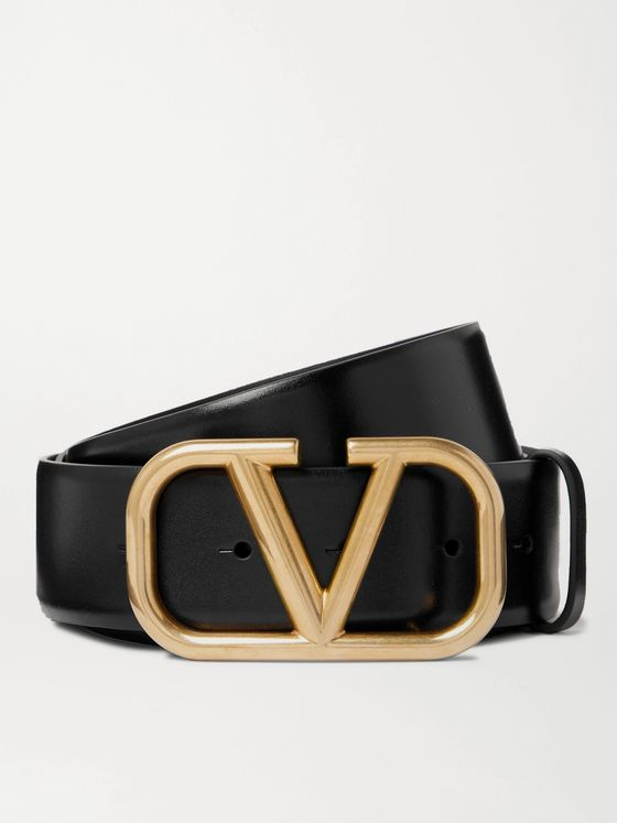 VALENTINO Valentino Garavani 4cm Glossed-Leather Belt