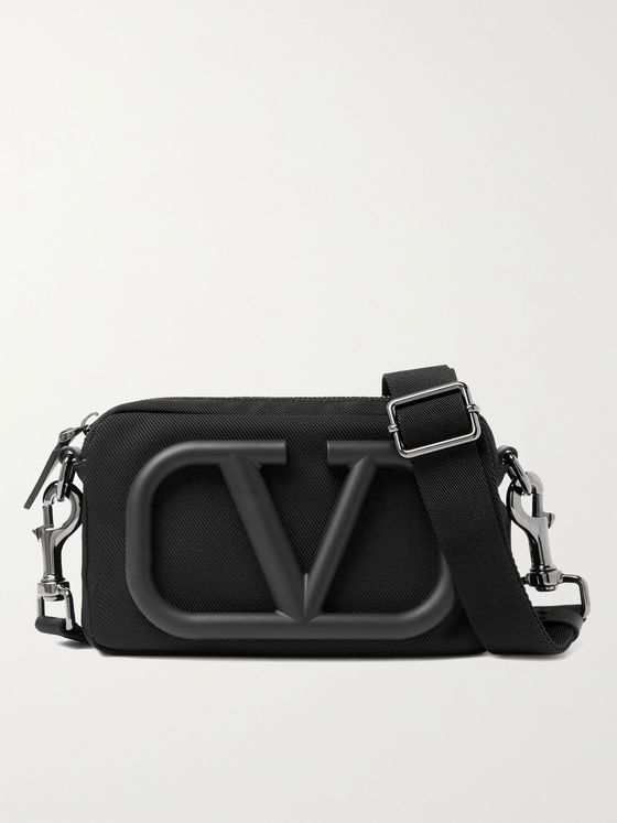 VALENTINO Valentino Garavani Logo-Appliquéd Canvas Camera Bag