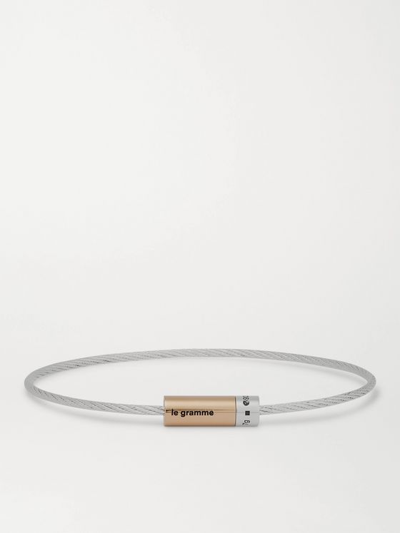 LE GRAMME 9G Sterling Silver and 18-Karat Gold Cable Bracelet