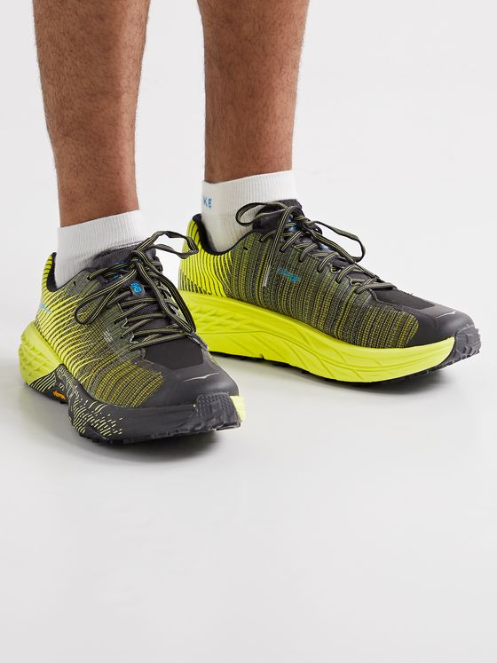 HOKA ONE ONE EVO Speedgoat Rubber-Trimmed MATRYX Running Sneakers