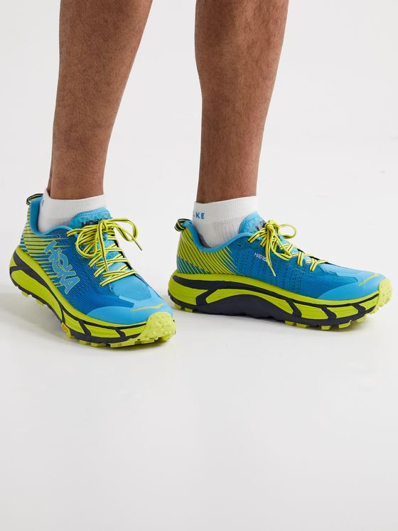 HOKA ONE ONE EVO Mafate 2 Rubber-Trimmed MATRYX Running Sneakers