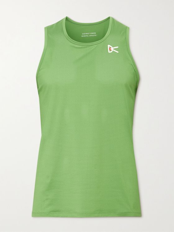 DISTRICT VISION Slim-Fit Peace-Tech Mesh Tank Top