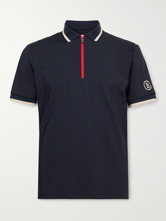 Bogner Cody Contrast-Tipped Stretch-Jersey Golf Polo Shirt