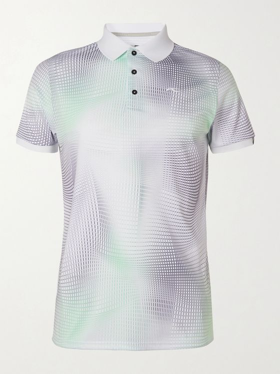 Kjus Golf Printed Stretch-Jersey Golf Polo Shirt