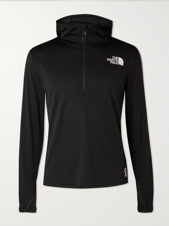 THE NORTH FACE Flight Series Elevation Stretch-Jersey Hooded Half-Zip Jacket