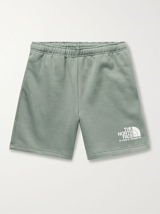 THE NORTH FACE Coordinates Logo-Print Fleece-Back Cotton-Blend Jersey Shorts