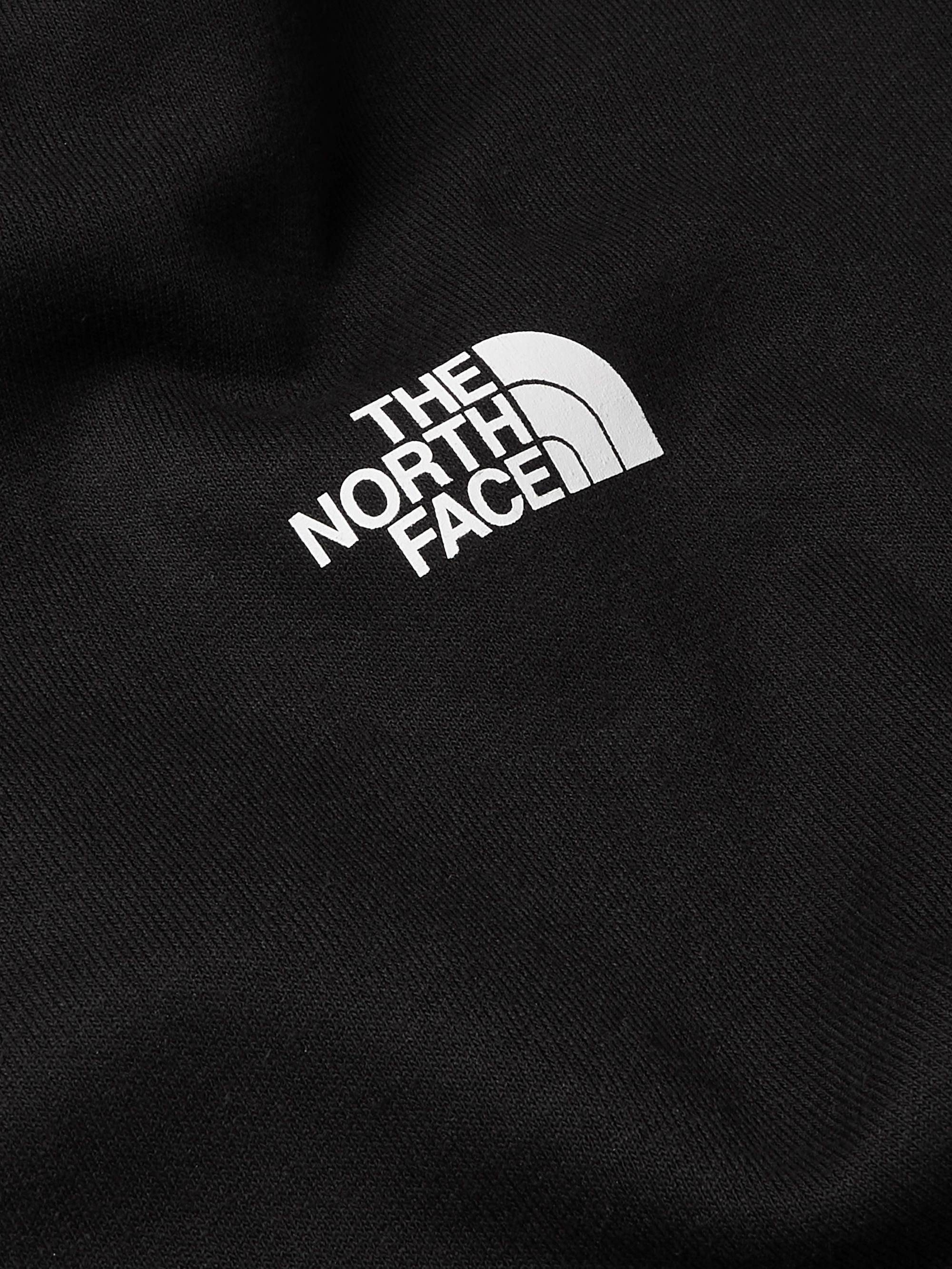 THE NORTH FACE Logo-Print Fleece-Back Cotton-Blend Jersey Hoodie