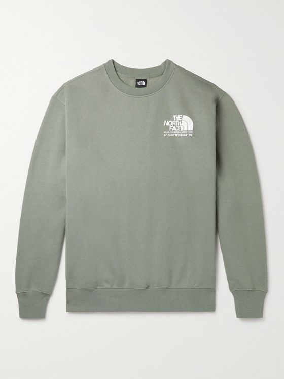 THE NORTH FACE Logo-Print Fleece-Back Cotton-Blend Jersey Sweatshirt