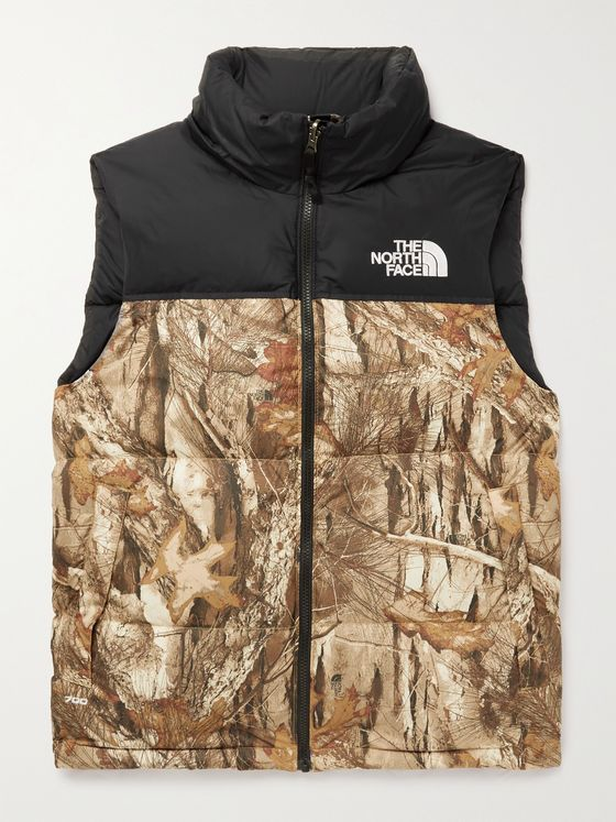 THE NORTH FACE 1996 Retro Nuptse Slim-Fit Camouflage-Print Shell Down Gilet