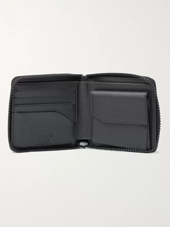 MONTBLANC Zip-Around Textured-Leather RFID Wallet