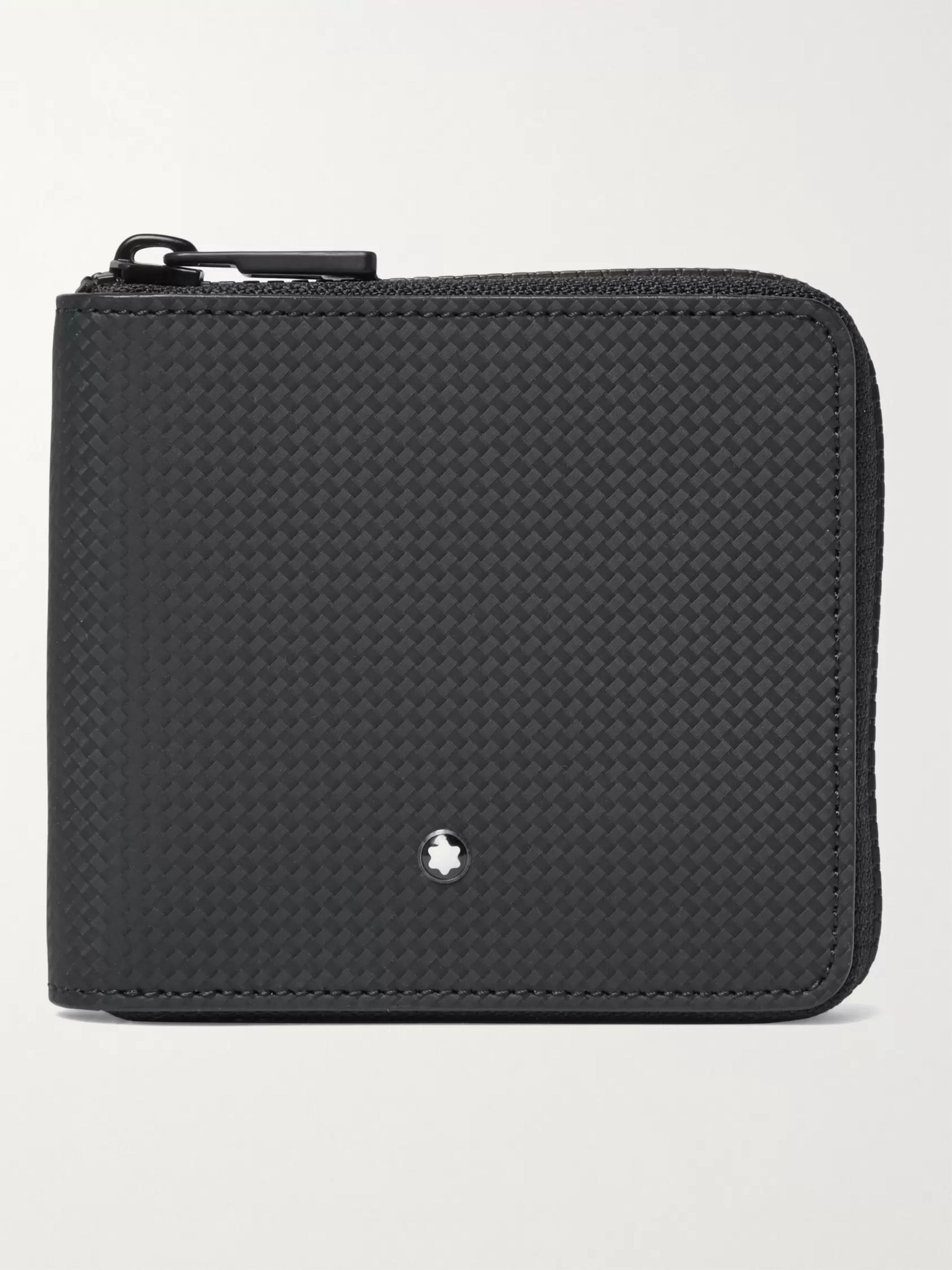 몽블랑 FRID 지갑 Montblanc Zip-Around Textured-Leather RFID Wallet,Black