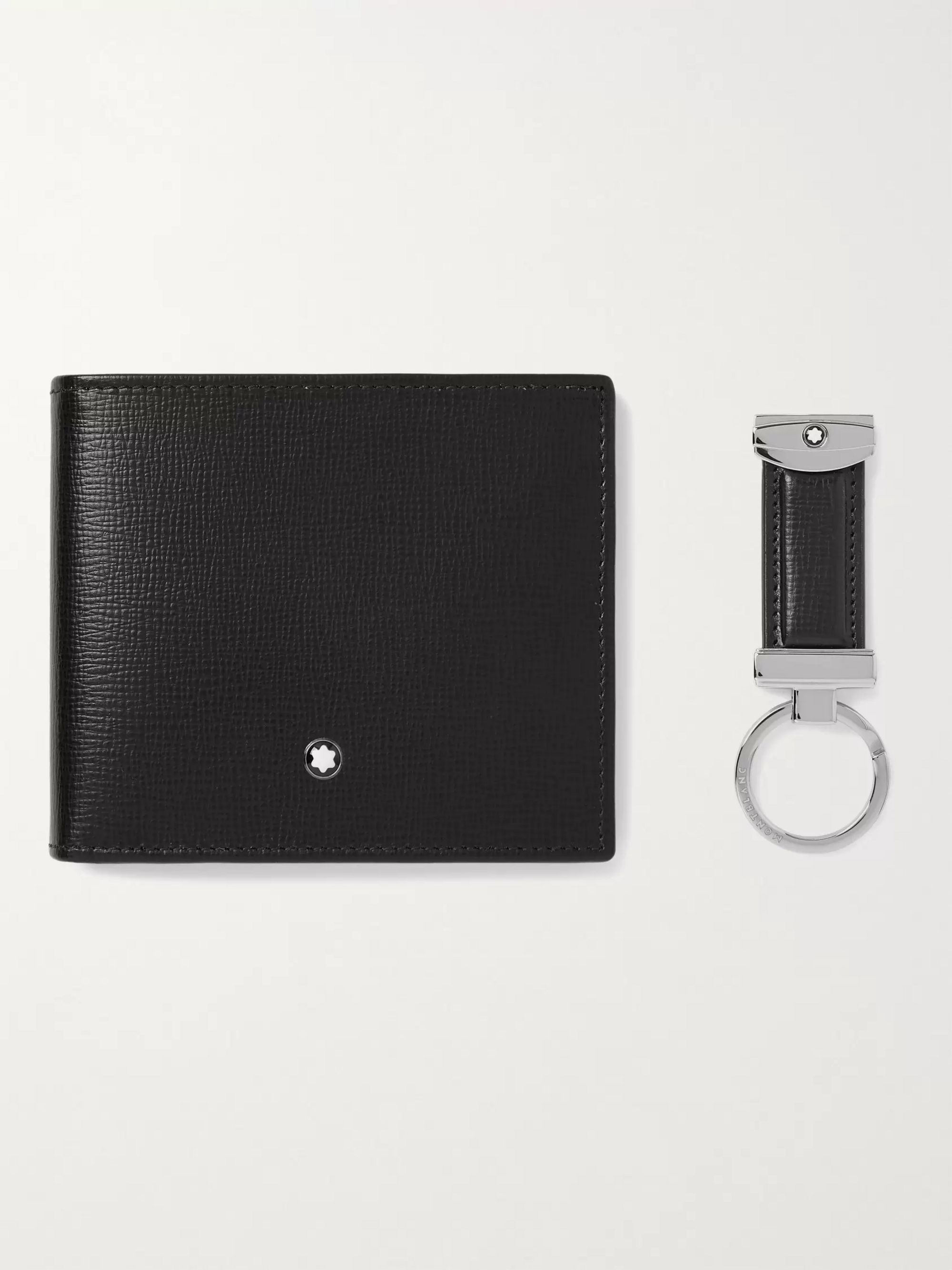 MONTBLANC Full-Grain Leather Billfold Wallet and Key Fob Gift Set