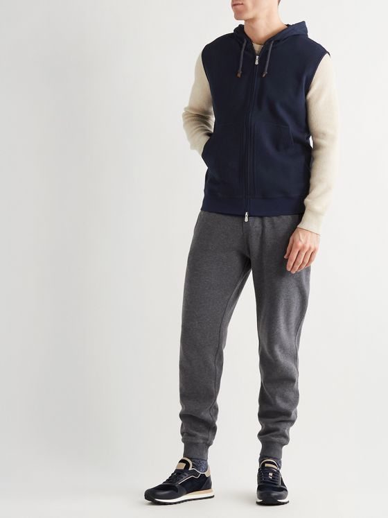 BRUNELLO CUCINELLI Slim-Fit Cotton-Blend Jersey Hooded Gilet