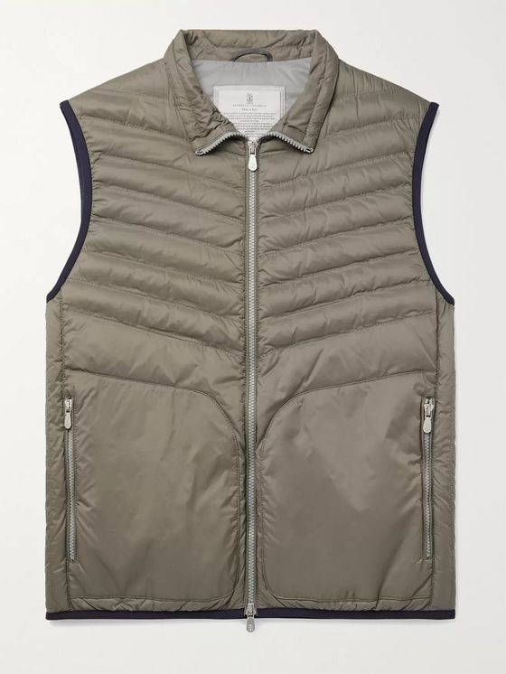 BRUNELLO CUCINELLI Quilted Shell Down Gilet