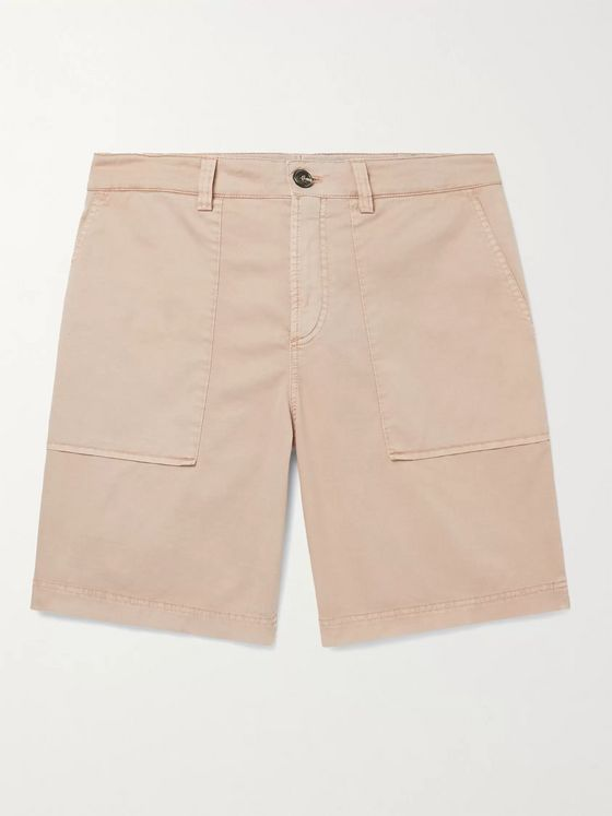 BRUNELLO CUCINELLI Cotton-Blend Twill Shorts