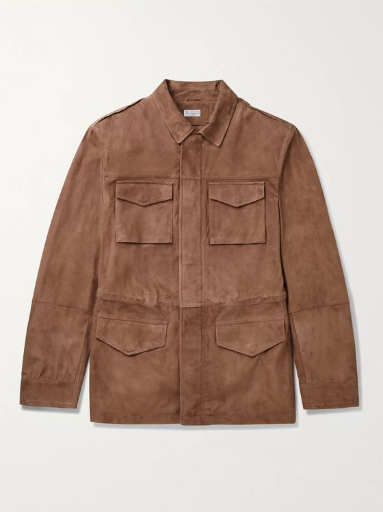 BRUNELLO CUCINELLI Suede Field Jacket