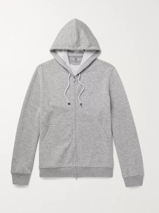 BRUNELLO CUCINELLI Cashmere-Blend Zip-Up Hoodie