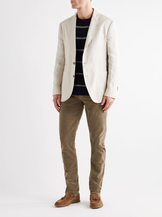 BRUNELLO CUCINELLI Slim-Fit Linen Blazer