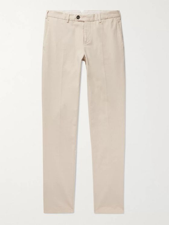 BRUNELLO CUCINELLI Tapered Cotton-Twill Chinos
