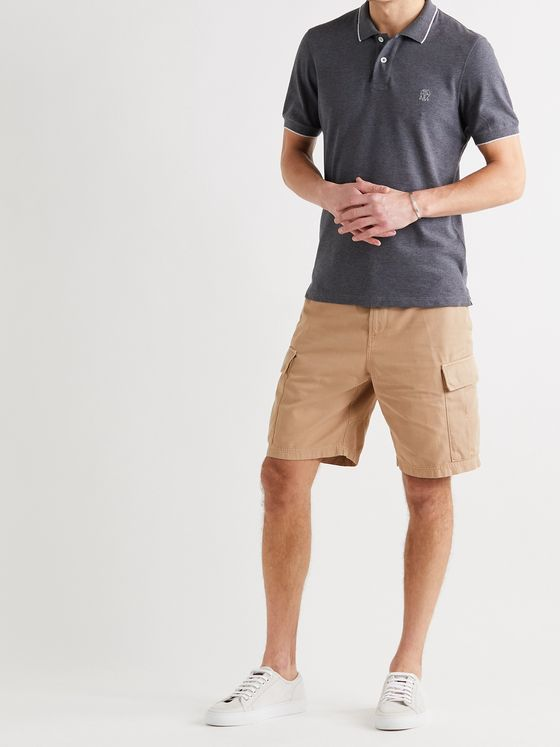 BRUNELLO CUCINELLI Cotton-Twill Cargo Shorts
