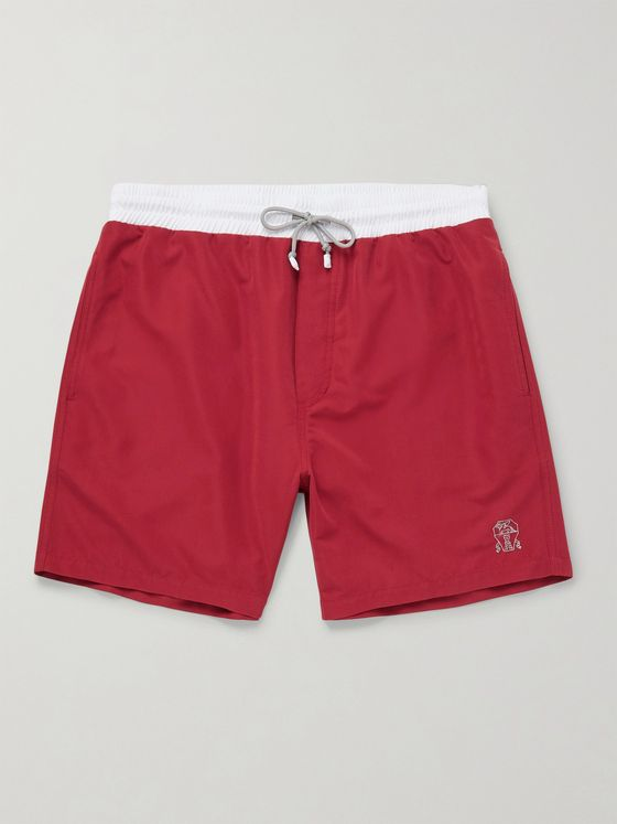 Brunello Cucinelli Mid-Length Colour-Block Swim Shorts