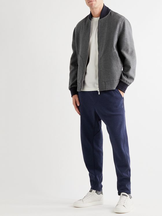 BRUNELLO CUCINELLI Reversible Cashmere and Silk-Blend Bomber Jacket