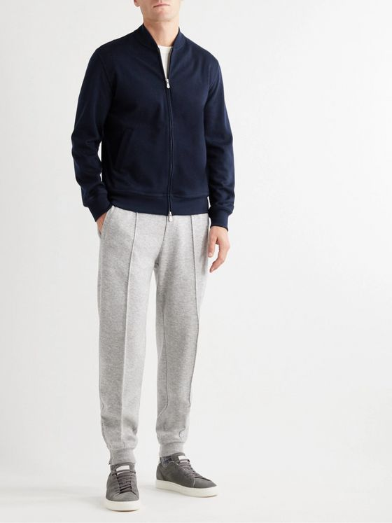 BRUNELLO CUCINELLI Cashmere-Blend Zip-Up Cardigan