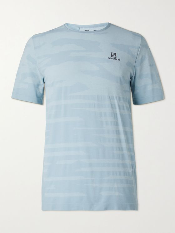 SALOMON XA Camouflage-Print Stretch-Jersey T-Shirt
