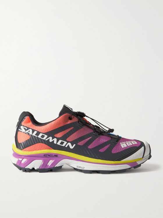 SALOMON XT-4 Advanced Rubber-Trimmed Coated-Mesh Running Sneakers