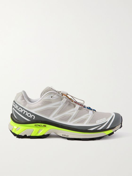 SALOMON XT-6 Advanced Rubber-Trimmed Coated-Mesh Running Sneakers