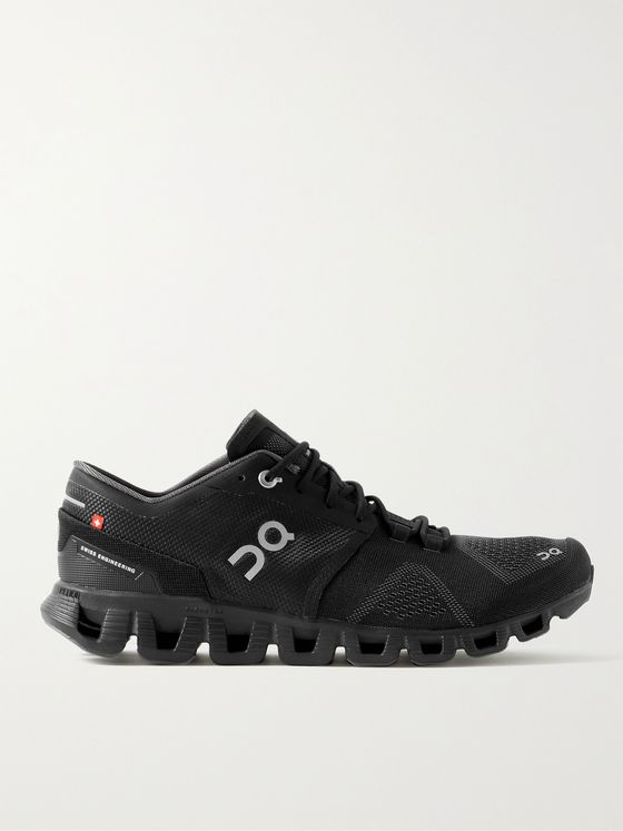 ON Cloud X Rubber-Trimmed Mesh Running Sneakers
