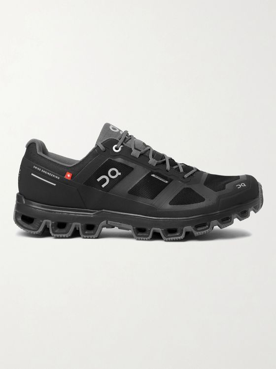 ON Cloudventure Rubber-Trimmed Mesh Trail Running Sneakers