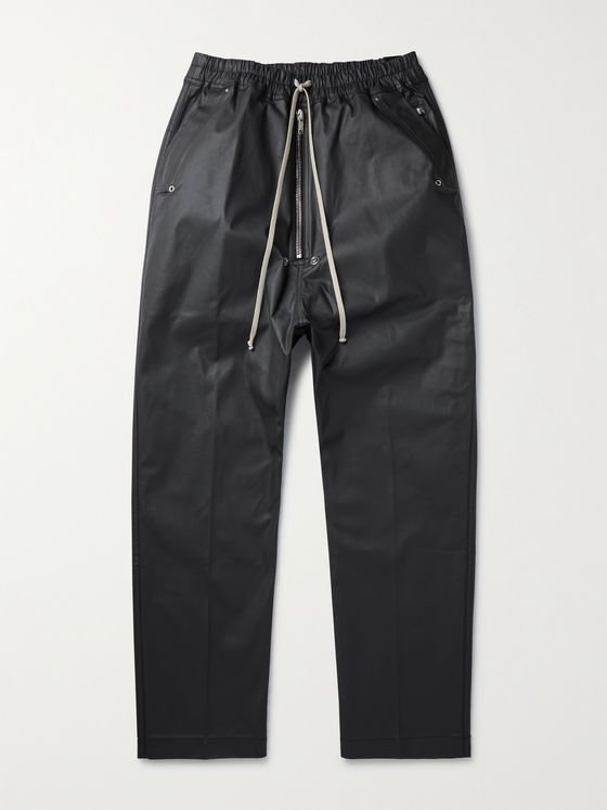 DRKSHDW BY RICK OWENS Bela Waxed Cotton-Blend Trousers
