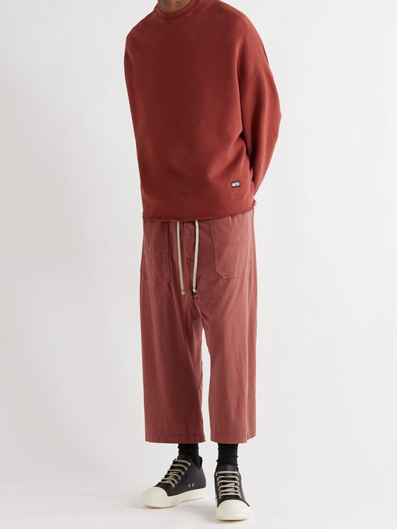DRKSHDW BY RICK OWENS Cotton-Jersey Cargo Trousers