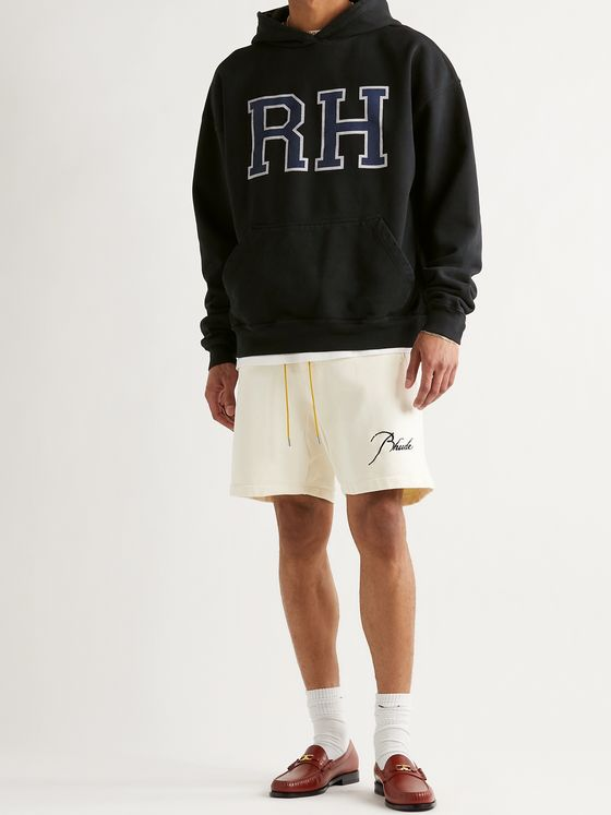RHUDE Oversized Logo-Print Loopback Cotton-Jersey Hoodie