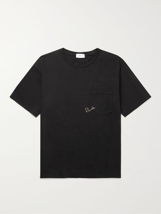 RHUDE Madison Logo-Embroidered Cotton-Jersey T-Shirt