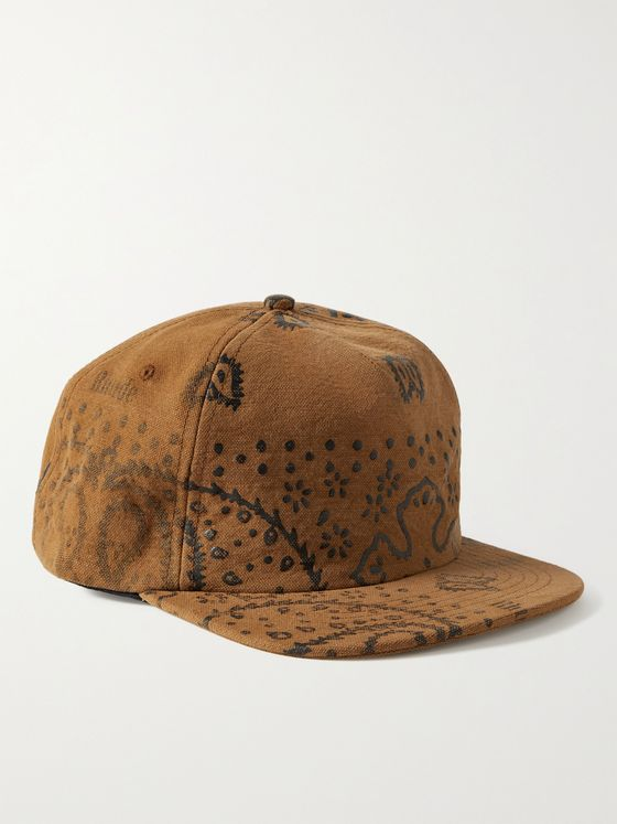 RHUDE Bandana-Print Cotton-Canvas Baseball Cap