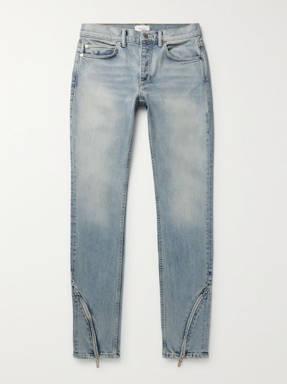 RHUDE Slim-Fit Zip-Detailed Denim Jeans