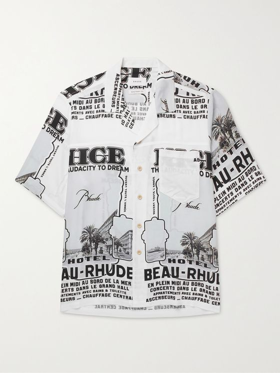 RHUDE Nice Camp-Collar Printed Woven Shirt