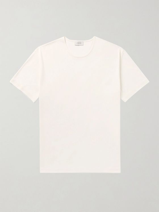 Lemaire Ribbed Cotton-Jersey T-Shirt