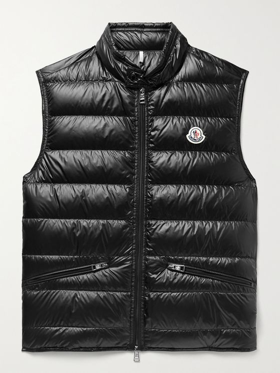 MONCLER Quilted Shell Down Gilet